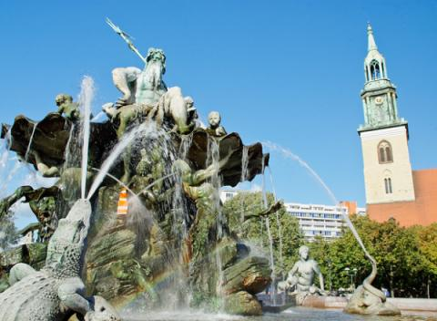 Alexanderplatz fontein Berlijn